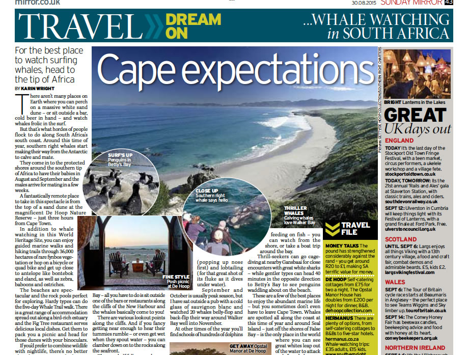 Mirror.co.uk- Cape Expectations