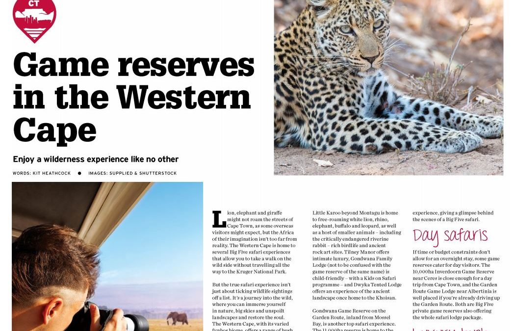 Game reserves In the Western Cape