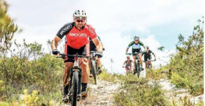 Explore Trails through the Fynbos in the De Hoop Vlei MTB Experience