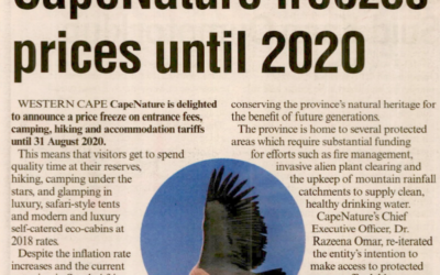 CAPENATURE FREEZES PRICES UNTIL 2020