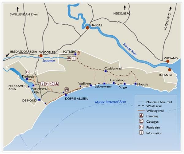 Map of De Hoop